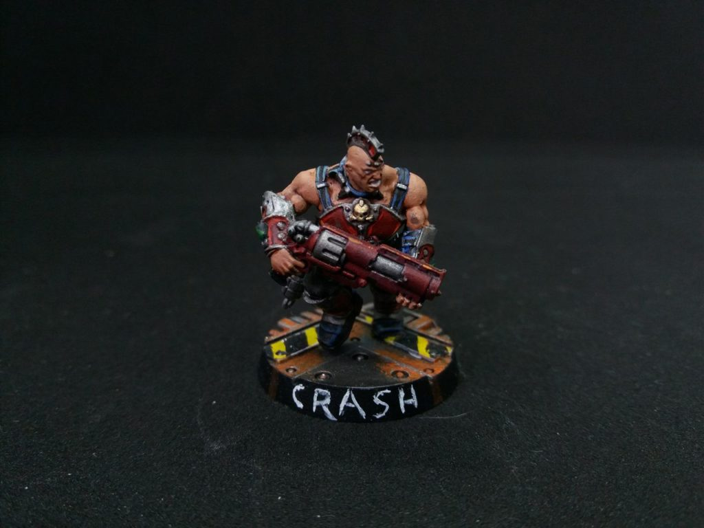 Crash the Necromunda Goliath Gang ganger
