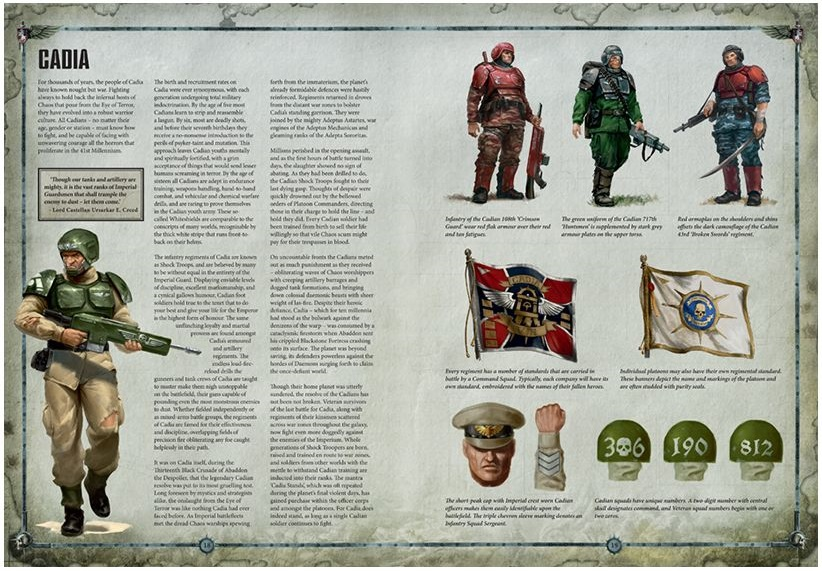 Cadians in Codex Astra Militarum