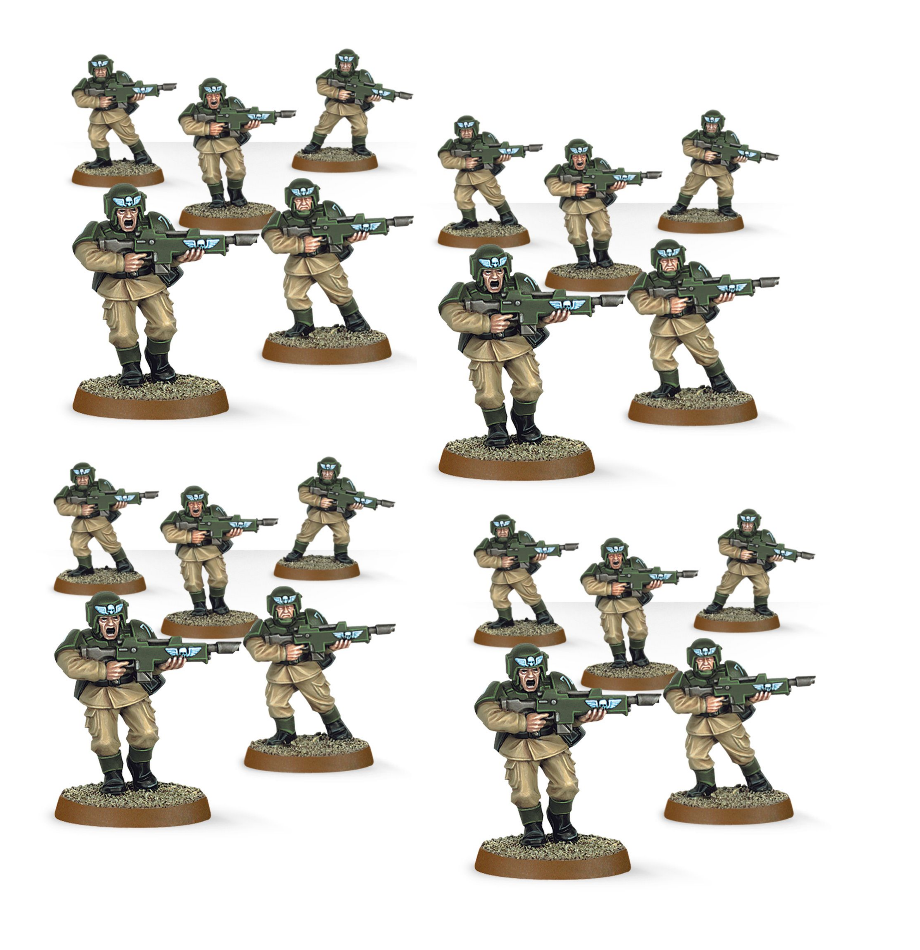 Cadian Conscripts A La Codex Astra Militarum