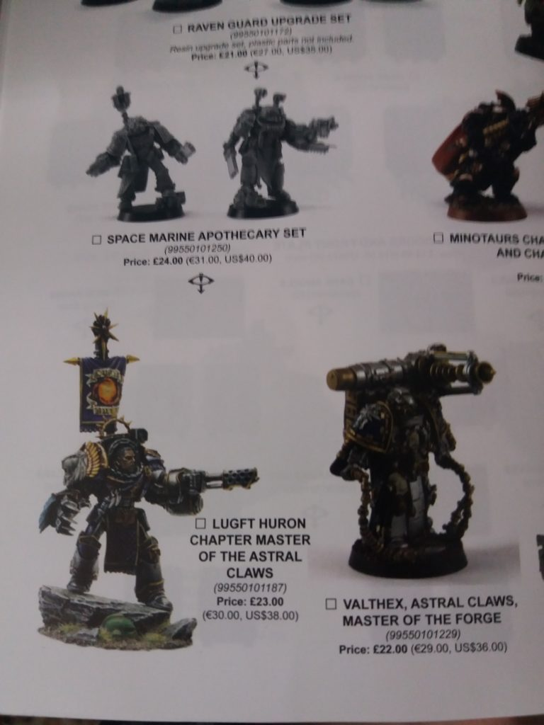 Forge World Catalogue 2018 - Astral Claws