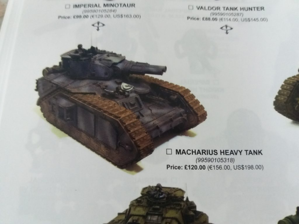 Forge World Catalogue 2018 - Macharius Heavy Tank