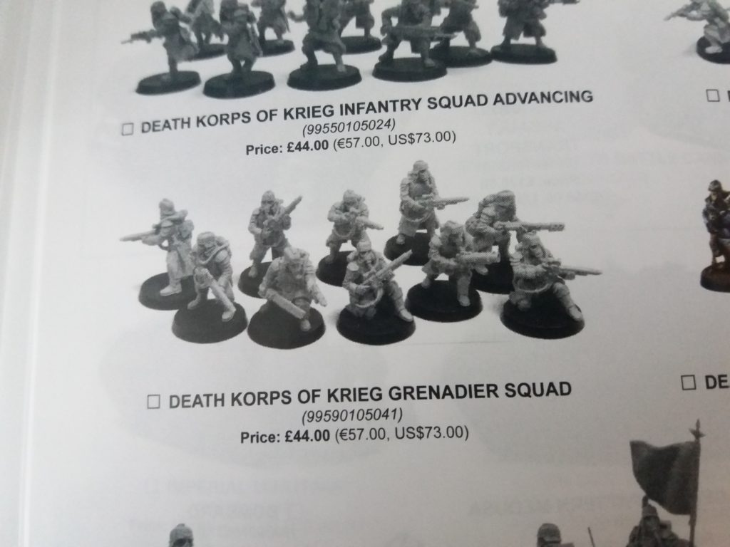 Forge World Catalogue 2018 - Krieg Grenadiers