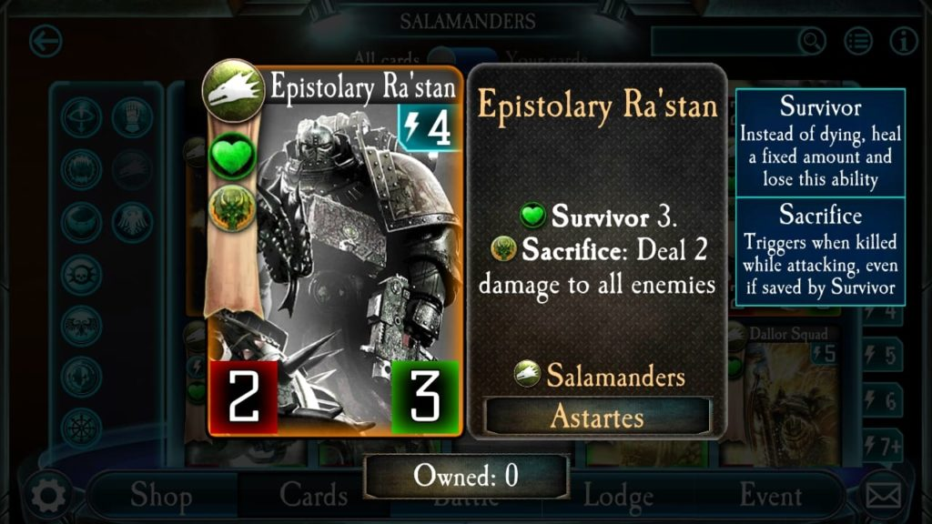 Salamander Sacrificial Survivor