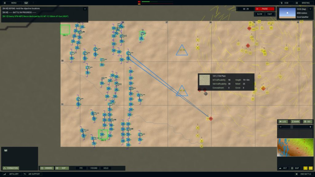 Armored Brigade I got slaughtered in this one