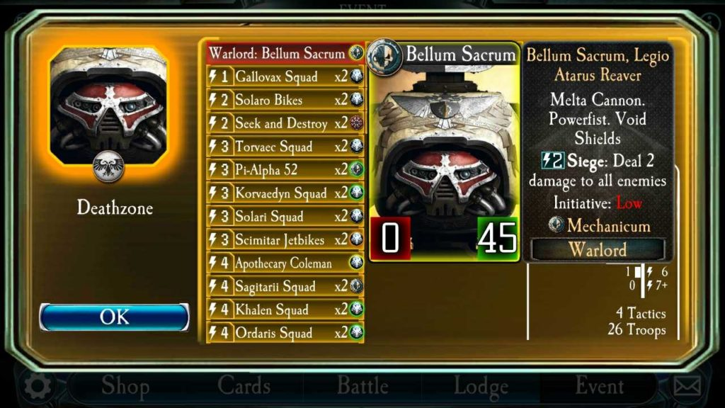 Horus Heresy Legions Titans Reaver