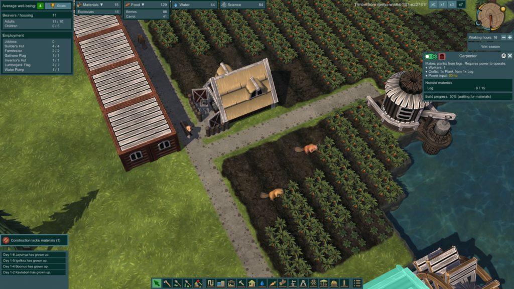 Timberborn demo review